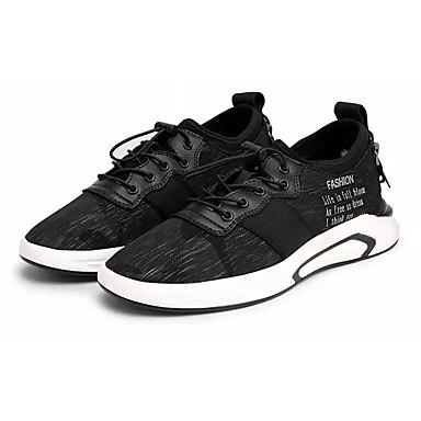 Hombre Zapatos Malla Otoño Suelas con luz Zapatillas de deporte Paseo Negro / Rojo / Negro / blanco w4Ancbo7qE