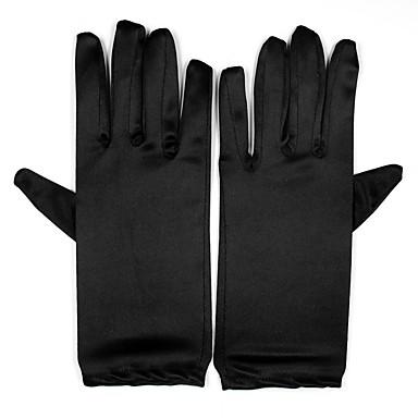 preiswerte Handschuhe für die Party-Elasthan Handgelenk-Länge Handschuh Brauthandschuhe / Party / Abendhandschuhe Mit Kunstperlen