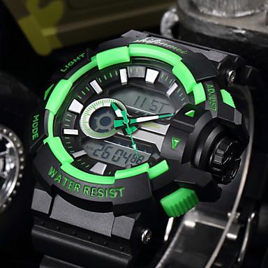 levne Pánské-SHIFENMEI Pánské Sportovní hodinky japonština Digitální Černá 30 m Voděodolné Kalendář Hodinky na běžné nošení Analog - Digitál Luxus Módní - Červená Zelená Světle modrá Jeden rok Životnost baterie