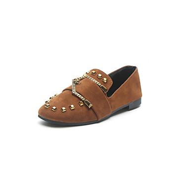 Vente Sast Mieux En Ligne Mujer Zapatos Ante Primavera verano Confort Zapatos de taco bajo y Slip-On Tacón Cuadrado Dedo redondo Negro 85s4ikyX