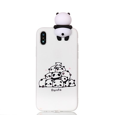 povoljno iPhone maske-Θήκη Za Apple iPhone X / iPhone 8 Plus / iPhone 8 Uzorak / Uradi sam Stražnja maska Crtani film / Panda Mekano TPU