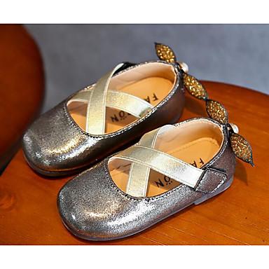 1d8294253b4 Κοριτσίστικα Παπούτσια PU Άνοιξη Μπαλαρίνα / Λουλουδάτα φορέματα για  κορίτσια Χωρίς Τακούνι για Χρυσό / Ασημί / Ροζ 6611654 2019 – $11.99