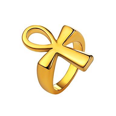levne Pánské šperky-Pánské Boxer Pečetní prsten Zlatá Černá Stříbrná Nerez Módní Denní Šperky Haç