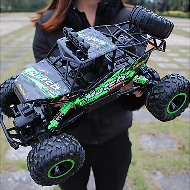 cheap Drones & Radio Controls-RC Car Titanfoot Monster Truck Rock Crawlers 4WD 4 Channel 2.4G Buggy (Off-road) / Rock Climbing Car / Drift Car 1:12 Brushless Electric 12 km/h Waterproof / Flashlight / Shockproof