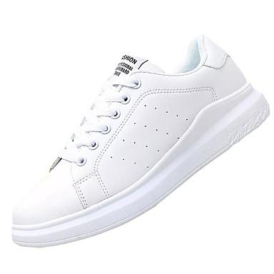 Mujer Zapatos Microfibra Otoño Confort Zapatillas de deporte Tacón Plano Rojo / Negro / blanco Le Plus Grand Fournisseur o8GNSA4i
