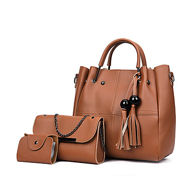 3c942ef0e9 Γυναικεία Τσάντες PU Σετ τσάντα 2 σετ Σετ τσαντών Φερμουάρ   Φούντα  Συμπαγές Χρώμα Ανθισμένο Ροζ   Γκρίζο   Καφέ   Τσάντα Σετ   Φθινόπωρο    Χειμώνας 7167861 ...