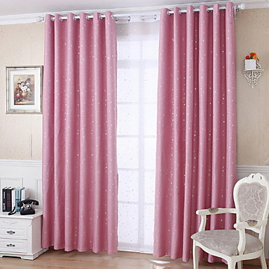 Curtains Drapes Living Room Geometric Cotton / Polyester Printed ...