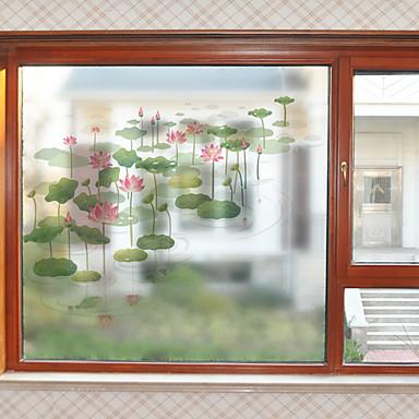Pellicola per finestre e adesivi decorazione moderno floreale pvc adesivo per finestre opaco - Adesivi natalizi per finestre ...