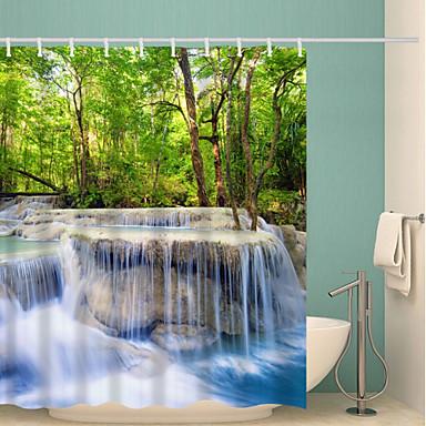 Κουρτίνες μπάνιου & γάντζοι Χώρα Πολυεστέρας Νεωτερισμός Μηχανοποίητο Αδιάβροχη Μπάνιο
