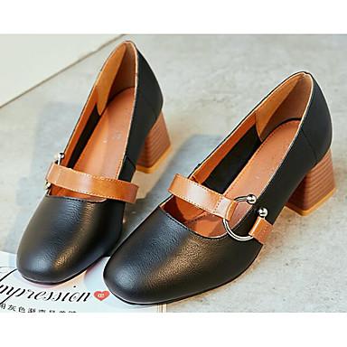 Vente Site Officiel Mujer Zapatos Cuero Verano Confort / Pump Básico Zuecos y pantuflas Tacón Cuadrado Negro / Almendra / Marron Vente Extrêmement Vente Pas Cher Vraiment 3REra