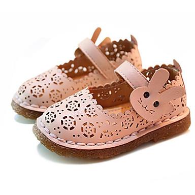 ebe1f1006a Chica Zapatos PU microfibra sintético Primavera / Otoño Primeros Pasos /  Zapatos para niña florista Bailarinas para Beige / Rosa 6619013 2019 –  $19.99