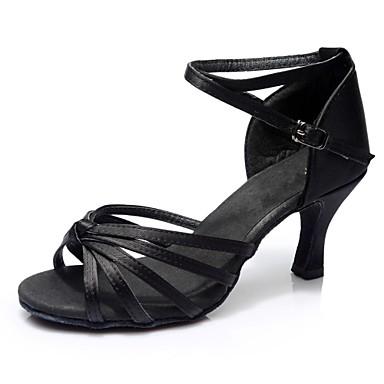 Sandale Satin Similicuir Latines Talon Chaussures Femme gy6fb7