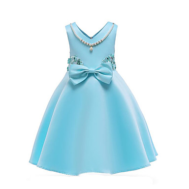 d7c08e4819fe Kids Girls  Active Going out Solid Colored Sequins   Bow   Pearl ...
