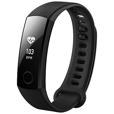 [?101.81] Huawei Honor 3 Smartband Activity Tracker Android 4.4 iOS Alarm Waterproof Calories Heart Rate Sensor Calories Consumption Pedometer Plastics PU