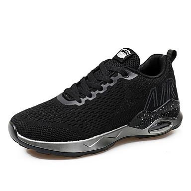 Hombre Zapatos Tejido Otoño Confort Zapatillas de Atletismo Running Negro / Azul Oscuro / Gris yJiKfQ