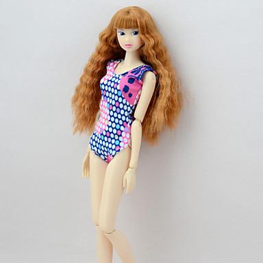 levne Doplňky pro panenky-Sada panenek na spodní prádlo Integrovaný styl Šaty Pro Barbie Puntíky Módní Námořnická modř Textil Elastický satén Polybavlna Kabát / Leotard / Kostýmový overal Pro Dívka je Doll Toy