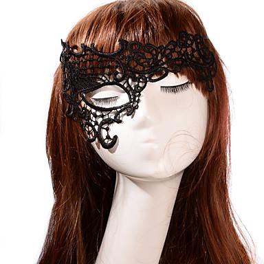 levne Masky-Halloweenské masky Halloween Props Halloweenské doplňky Pletená textilie Umělecké a retro Obličej Nový design sexy Lady Vynikající Pohodlný Klasický motiv Prázdninový Pohádkový motiv Romantika