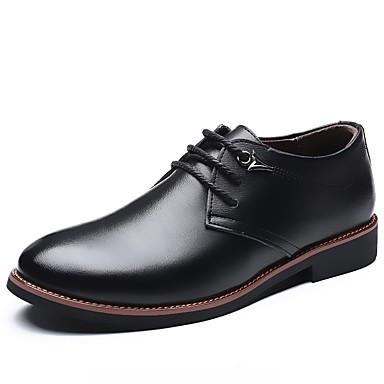 Hombre Zapatos Cuero Otoño Confort Oxfords Negro / Marrón / Zapatos De Vestir cVcntv