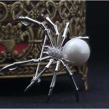 povoljno Značke i broševi-Broševi Pauci Sa životinjama Statement Europska Broš Jewelry Obala Sive boje Za Halloween Maškare