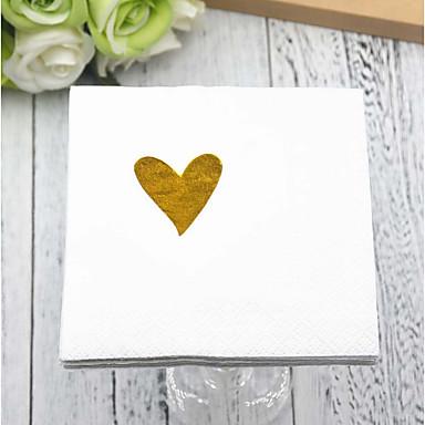 povoljno Svadbeni ubrusi-Čisti papir Vjenčanje Salvete - 5pcs Večera salvete Vjenčanje Valentinovo Klasični Tema