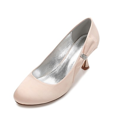 b208d44a89c Women s Shoes Satin Spring   Summer Comfort Wedding Shoes Kitten Heel  Rhinestone   Bowknot   Satin Flower Dark Blue   Champagne   Ivory 6638133  2019 – ...