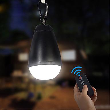Lanterner & Telt Lamper Vanntett 150 lm LED LED emittere Vanntett Bærbar Fjernkontroll Enkel å bære Camping / Vandring / Grotte Udforskning Dagligdags Brug Fisking Svart