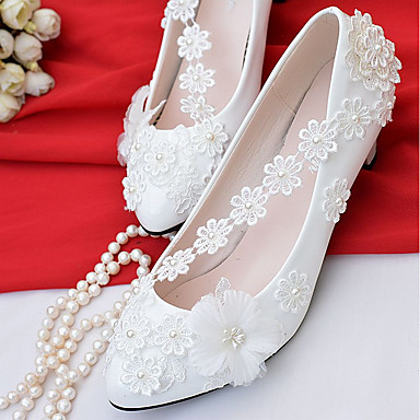 fe5205fa95 Mulheres Sapatos Renda   Courino Primavera   Outono Conforto ...