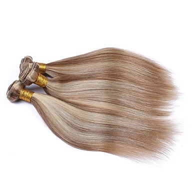 povoljno Ekstenzije od ljudske kose-3 paketa Brazilska kosa Wavy Ljudska kosa Ombre Jedan Pack Solution Ekstenzije od ljudske kose 10-28 inch Višebojne Isprepliće ljudske kose Nježno Žene Ombre Proširenja ljudske kose / 8A