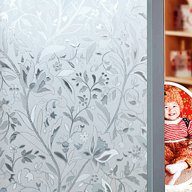 cheap Wall Stickers-Window Film & Stickers Decoration Floral Floral PVC / Vinyl Matte Sticker
