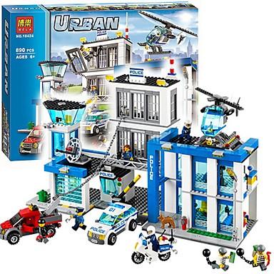 Τουβλάκια Κατασκευασμένα Παιχνίδια Εκπαιδευτικό παιχνίδι 890 pcs Αρχιτεκτονική συμβατό Legoing Θέα στην πόλη Αγορίστικα Κοριτσίστικα Παιχνίδια Δώρο