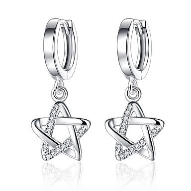 povoljno Modne naušnice-Žene Kubični Zirconia mali dijamant Viseće naušnice Csillag Zvijezda Davida Pentagram dame slatko Moda Zircon Naušnice Jewelry Pink Za Dnevno Spoj