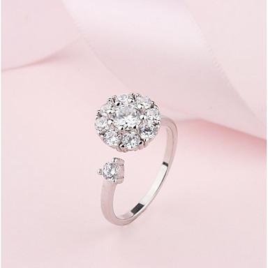 billige Motering-Dame Band Ring Håndledd Ring vikle ring Diamant Kubisk Zirkonium moissanite Sølv Kobber damer Klassisk Søt Daglig Smykker Snøfnugg