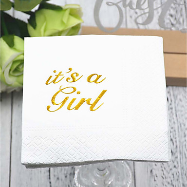 Rent papir Bryllup Servietter - 5pcs Aftensmat Servietter Bursdag Klassisk Tema