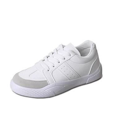 Mujer Zapatos Semicuero / PU Primavera / Otoño Confort Zapatillas de deporte Media plataforma Blanco / Negro / Negro / blanco bzqN6