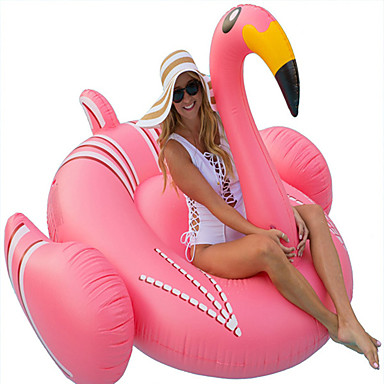 cheap Inflatable Ride-ons & Pool Floats-Inflatable Pool Float Donut Pool Float Inflatable Pool Outdoor Party Favor Summer Pool Toys PVC / Vinyl Summer Flamingo Pool 1 pcs All Kid's Adults'