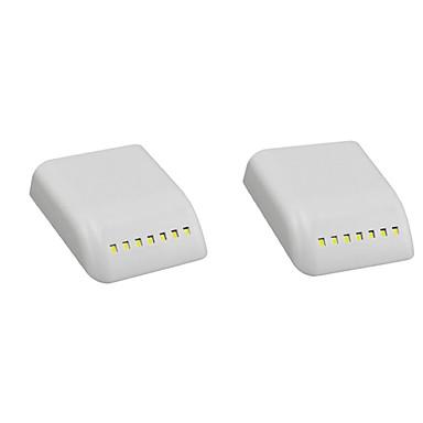 2pcs LED Night Light Hvit AAA batterier drevet Smart induksjon / Skap / Garderobe 12 V