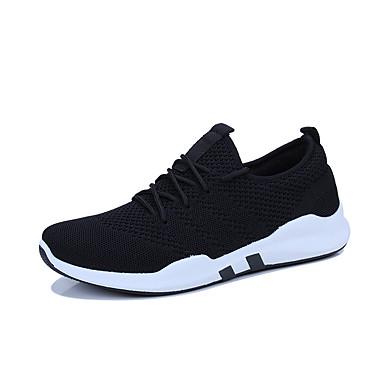 בגדי ריקוד גברים נעלי נוחות רשת אביב קיץ / סתיו חורף ספורטיבי / יום יומי נעלי אתלטיקה נושם לבן / שחור / אפור