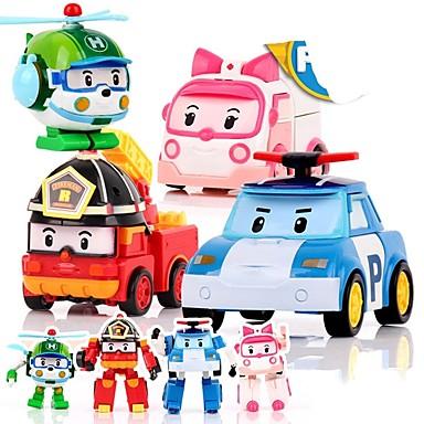 preiswerte Tierische Actionfiguren-Tier-Actionfiguren Transformierbar Auto Plastikschale Zeichentrick 4 pcs Kinder Jungen Mädchen Spielzeuge Geschenk