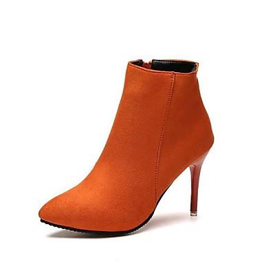 Mujer Zapatos PU Otoño / Invierno Botas de Moda / Botas hasta el Tobillo Botas Tacón Stiletto Dedo Puntiagudo Botines / Hasta el Tobillo fnhm0Zpo3