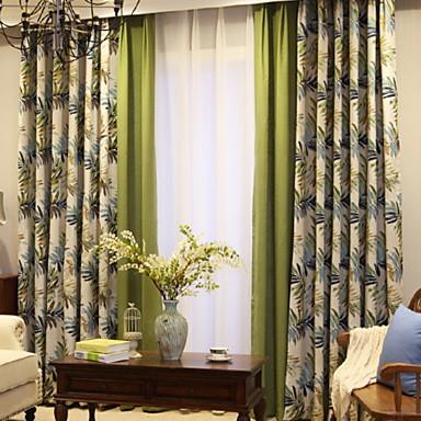 cortinas cortinas Sala de estar Contemporáneo Algodón / Poliéster ...