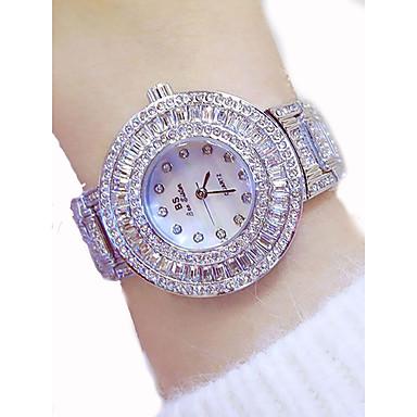 povoljno Ženski satovi-Žene Luxury Watches Sat uz haljinu Diamond Watch Japanski Kvarc Nehrđajući čelik Zlatna 50 m Kronograf Svjetleći Velika kazaljka Analog dame Luksuz Svjetlucavo Bling Bling - Zlato Pink Rose Gold