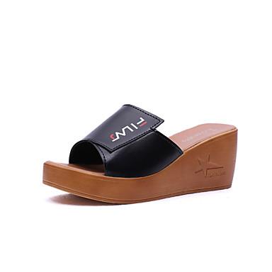 Mujer Zapatos Cuero Verano Confort Zapatillas y flip-flops Tacón Cuña Negro Meilleur Jeu Vente Boutique Avec La Livraison Gratuite Paypal Livraison Gratuite Footlocker Finishline Réduction Ebay UUcbRH3