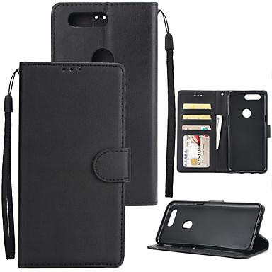 tok Για OnePlus One Plus 5 / OnePlus 5Τ Πορτοφόλι / Θήκη καρτών / Ανθεκτική σε πτώσεις Πλήρης Θήκη Μονόχρωμο Σκληρή PU δέρμα