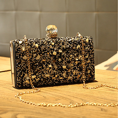 cheap L.WEST®-Women's Crystals Evening Bag Rhinestone Crystal Evening Bags Gold / Black / Silver