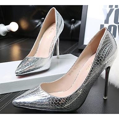 Mujer Zapatos PU Primavera / Otoño Confort Tacones Tacón Stiletto Dorado / Plata Vente Offres Populaire Pas Cher En Ligne cp49twiQ71