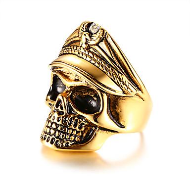 levne Pánské šperky-Pánské Vyzvánění Zlatá Nerezové Módní Klub Bar Šperky Mexická Cukr Lebka Lebka Cool