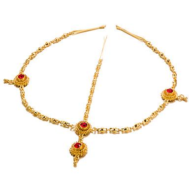 levne Dámské šperky-Dámské Módní Elegantní Pozlacené Synthetic Ruby Doplňky do vlasů Dar Jdeme ven