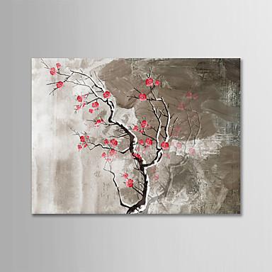 Hang-ζωγραφισμένα ελαιογραφία Ζωγραφισμένα στο χέρι - Νεκρή Φύση Μοντέρνα Χωρίς Εσωτερικό Πλαίσιο / Κυλινδρικός καμβάς