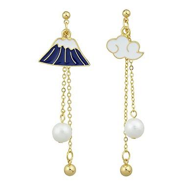povoljno Modne naušnice-Žene Viseće naušnice neprilagođeno Long oblaci dame Naušnice Jewelry Zlato Za Dar Spoj