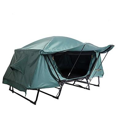 1 άτομο Σκηνή ψαρέματος Εξωτερική Αντιανεμικό Αδιάβροχο Διπλής στρώσης Πόλος Θόλος Camping Σκηνή 2000-3000 mm για Ψάρεμα Κατασκήνωση / Πεζοπορία / Εξερεύνηση Σπηλαίων Ταξίδι UV Oxford Πανί Οξφόρδη